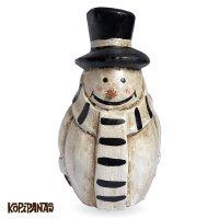 Border Muffler Snowman BLACK