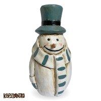 Border Muffler Snowman BLUE