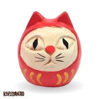 だるま猫 赤頭巾白猫