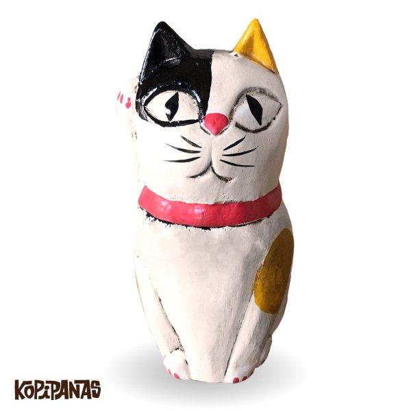 画像1: 招き猫 三毛