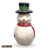 Black Hat Snowman RED Muffler