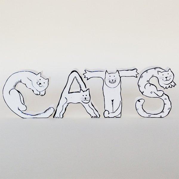画像2: 猫アルファベット <卸なし>
