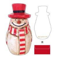 Border Muffler Snowman Card